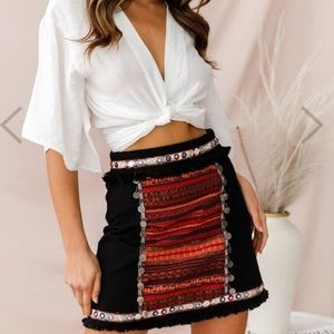 Brand new with tags Selfie Leslie skirt